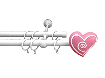 Kinder Metall Doppel Gardinenstange Ausziehbar Set Rute 19 Mm Ringe