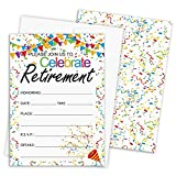 Retirement Party Invitation Cards with Envelopes, 25 Count