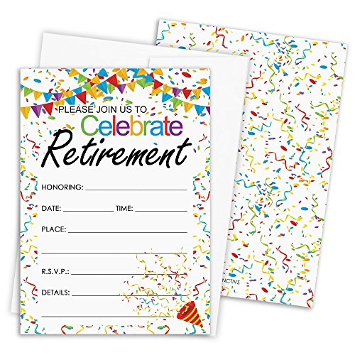(Retirement Party Invitation Cards with Envelopes, 25 Count)