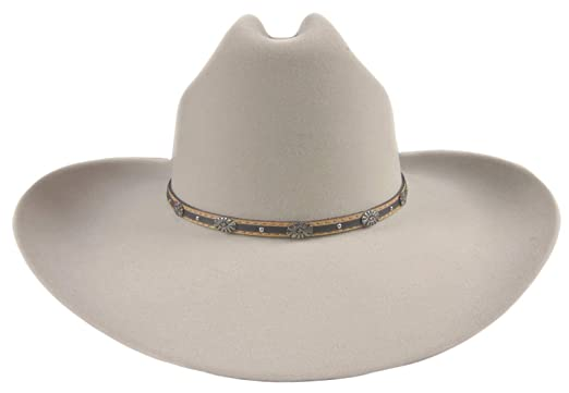 839ef0bc25dbf Stetson 6X Oak Creek Silverbelly Cowboy Hat Size 7 1 8 Oval 4