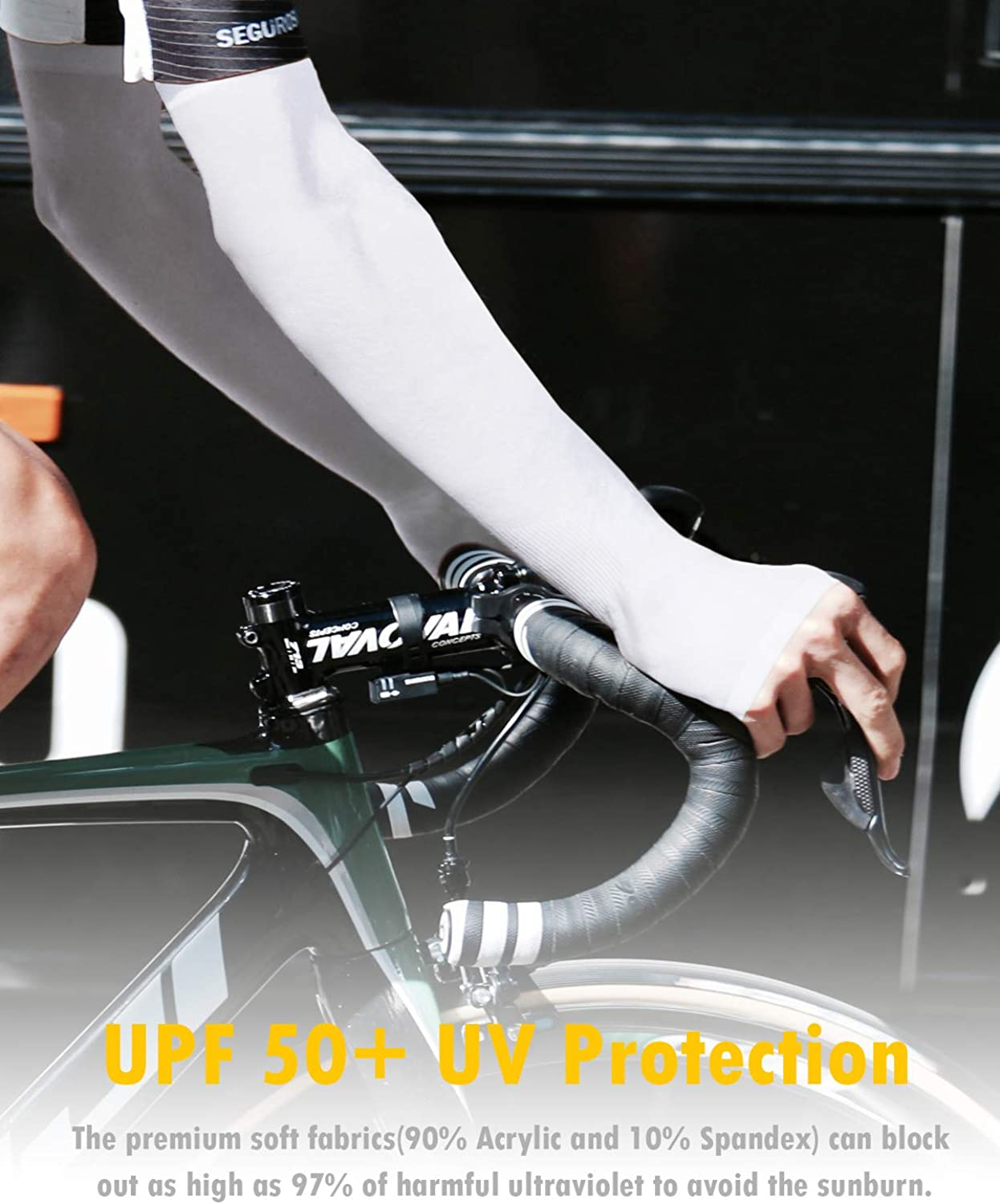 UPF 50 UV Sun Protection Cooling Sleeves to Cover Arms Arm Sleeves for Women Men