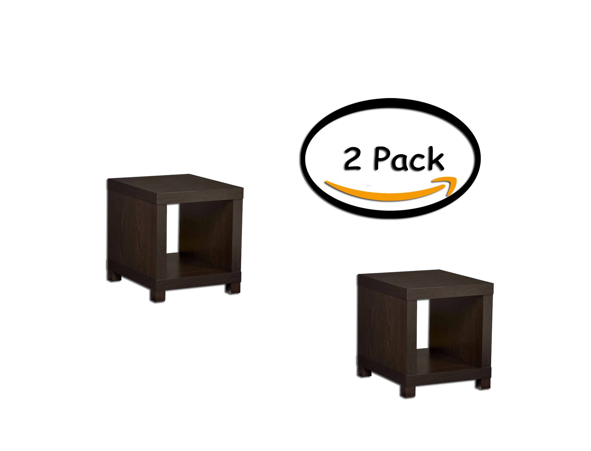 PACK OF 2 - Better Homes and Gardens Accent Table, Multiple Colors, Size:, Actual Color: Espresso