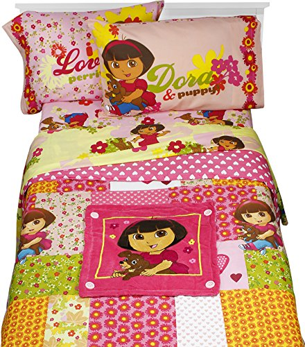 Patchwork 5pc Full Bedding Set (Dora The Explorer Quilt)
