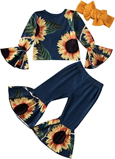 2pcs Toddler baby Girls tops+pants Outfits /& set spring clothes set