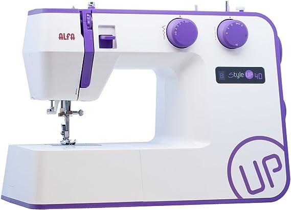 Alfa Style UP 40 - Máquina de Coser, Color Morado: Amazon.es: Hogar