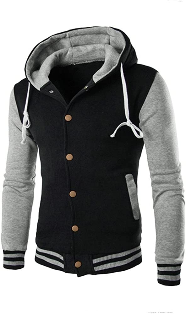 Ularma Men Coat Jacket Outwear Sweater Winter Slim Hoodie Warm Hooded Sweatshirt