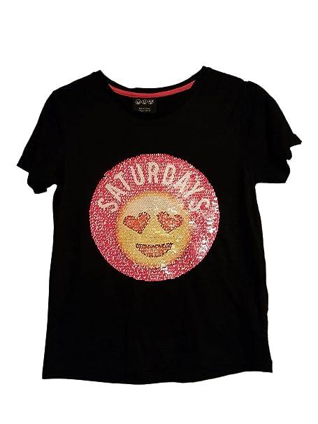 Primark Camiseta de manga corta - para niña Negro negro: Amazon.es: Ropa y accesorios
