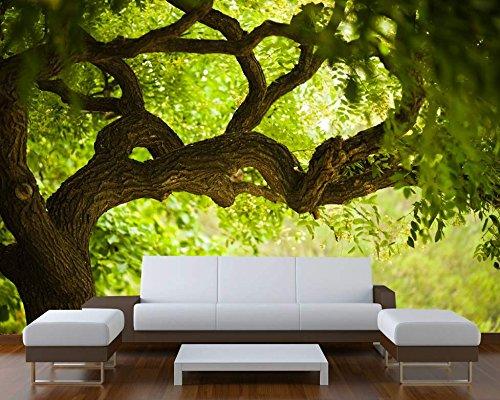 Startonight Mural Wall Art Photo Decor Tree On The Green Landscape