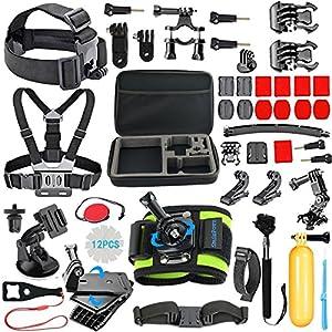 SmilePowo Outdoor Sports Camera Accessories for GoPro Hero 5 / Session 6/5/4/3/2/1,AKASO EK7000,EK5000,SJCAM,DBPOWER,xiaomi YI,Carrying Case,Camera Bundle (51-in-1?
