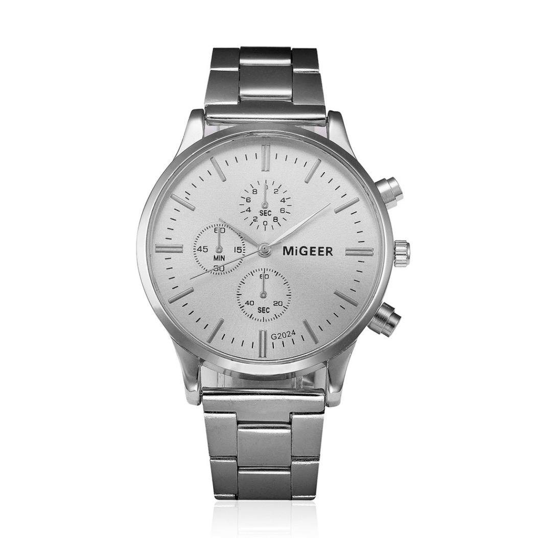 Amazon.com: Clearance!! Auwer Watch,Mens Watches,Mens Luxury Fashion Stainless Steel Chronograph Quartz Wrist Watch (A): Watches