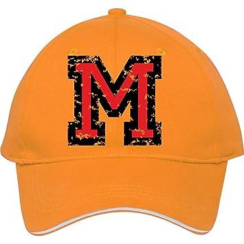 Ajustable diseño con la letra M dos colores Blackred algodón gorra de béisbol  gorra deportiva Gorra f97be778329
