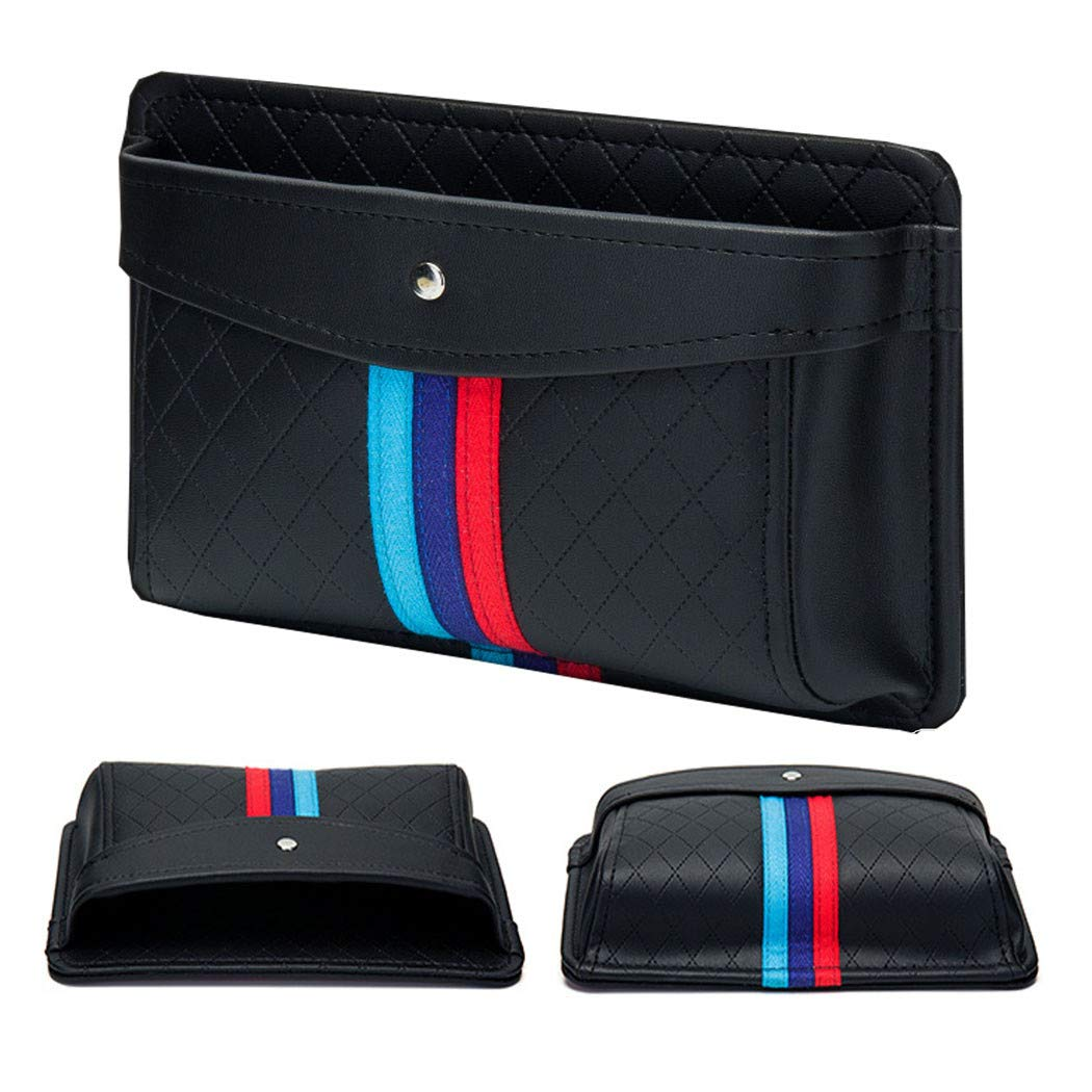 Built-in Card Holder YBERLIN Car Side Pocket Organizer Interior Dash Pen Phone Registration Holder Tray Pouch in Car Door,Window,Console,Seat-for Document,Registration,Notepad,Gadgets