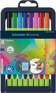 Schneider Line-Up Fineliner In Pencil Case Stand 8 Pieces