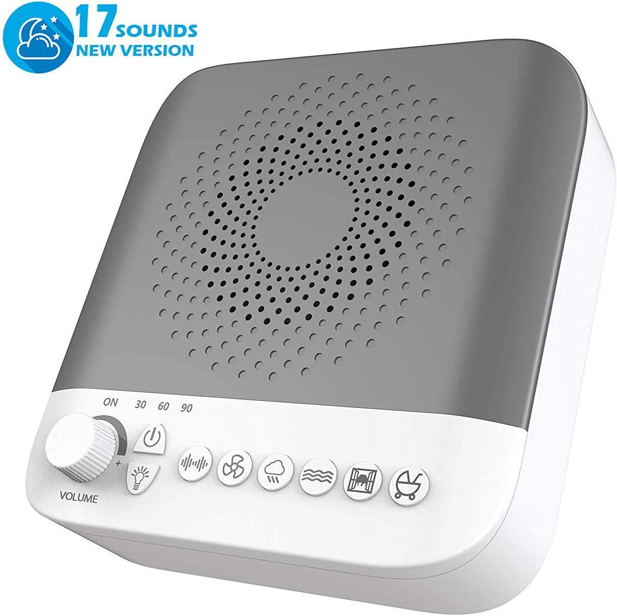 White Noise Machine – High Fidelity Sounds,Portable Sleep Therapy Machine,Sleep Sound Machine with 17 Non-Looping Soothing Sounds – for Kids and Adults