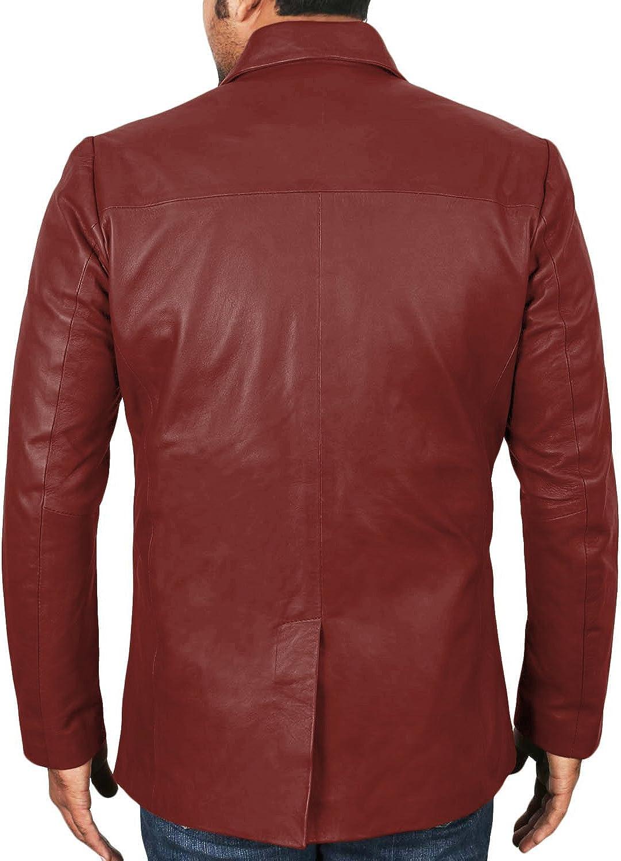 Lasumisura Mens Black Genuine Lambskin Leather Jacket 1510833