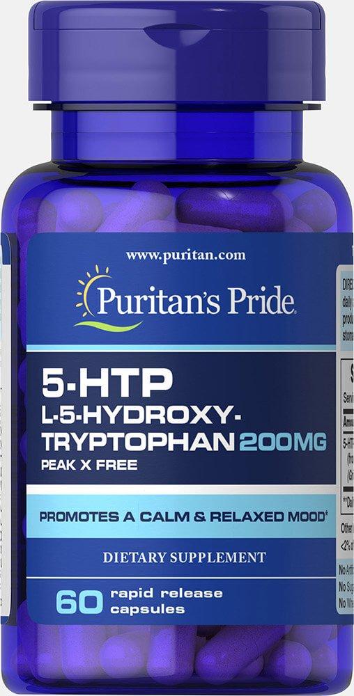 Puritan's Pride 5-HTP 200 mg (Griffonia Simplicifolia)-60 Capsules