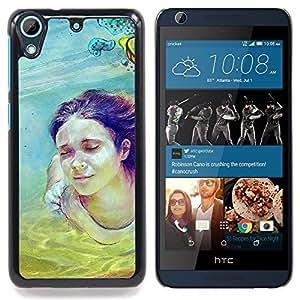 """Qstar Arte & diseño plástico duro Fundas Cover Cubre Hard Case Cover para HTC Desire 626 (Cute Girl Pintura Buceo"""")"""