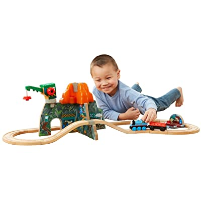 Fisher-Price Thomas & Friends Wooden Railway Set, Volcano Park Deluxe: Toys & Games
