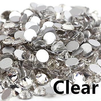 Amazon.com  Crystal AB 3D Nail Art Rhinestones Ss3 Ss4 Ss5 Ss6 Ss10 Ss12  Ss16 Ss20 Ss30 Ss34 Glass Crystal Non Hotfix Nail Art Decorations Crystal  Clear ... 8e51c3f49a72