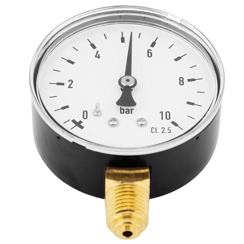 0-30psi 0-2 bar Luftdruck Manometer 1//4 Zoll NPT Manometer für Seitenmontage Ne