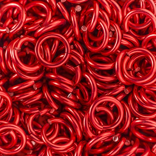 Weave Got Maille Candy Apple 18-Gauge 5mm ID Anodized Aluminum Jump Rings-1 Ounce