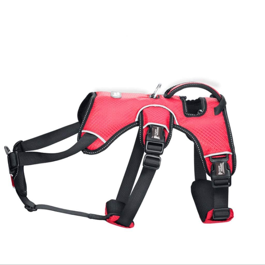B L B L PLDDY Pet Leash, Dog Chest Strap Leash Dog Chain Explosion-Proof Punch Large Dog Leash Collar K9 3 color (color   B, Size   L)