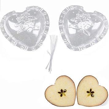 goodchanceuk 4-Pack creciente Sapodilla pepino en forma de corazón molde con forma de jardín frutas molde herramienta: Amazon.es: Hogar