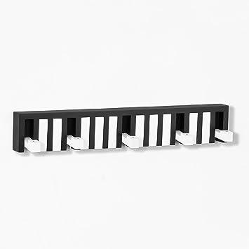 SoBuy® FRG69-WS, Piano diseño Perchero de Pared con 5 ...