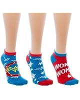 Wonder Woman Womens Ankle Socks - 3 Pack