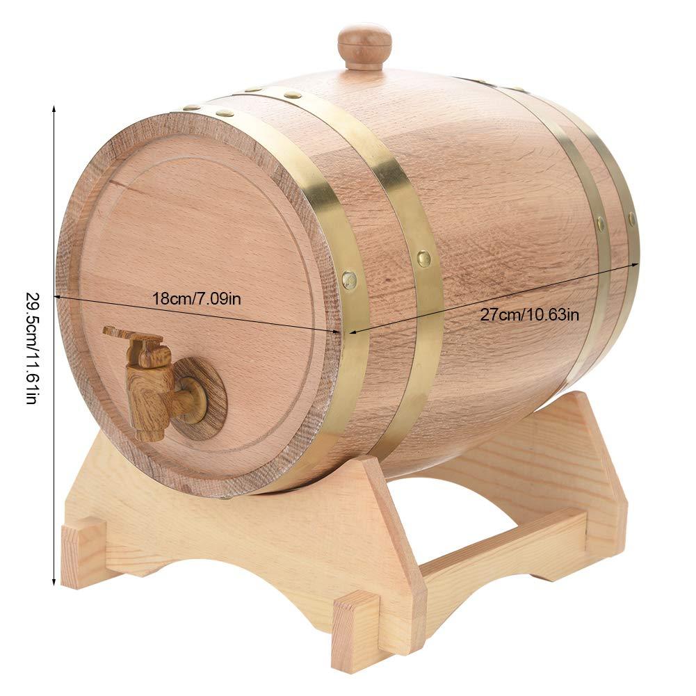 Barril de vino de roble, barril de almacenamiento de whisky con tapa 5l