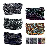 Oureamod Wide Headbands for Men and Women Athletic Moisture Wicking Headwear for Sports,Workout,Yoga Multi Function (Black Series)