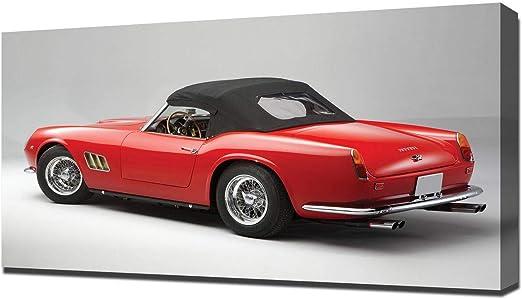 Amazon De Lilarama 1963 Ferrari 250 Gt California Spyder V9 Art Leinwandbild Kunstdrucke