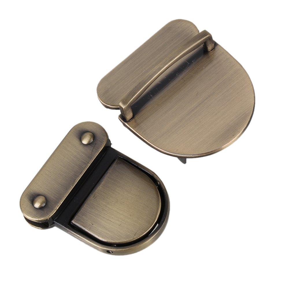 Yibuy 2 x 43 x 38 x 29 mm Cierre Catch Tuck Lock para bolso de cuero Broche