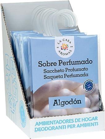 Set de 12 Sobres Perfumados, Bolsitas Aromáticas Aroma Algodón, Saquitos para el Armario, Cajón, Ropa de Bebé, Zapatero, Maleta: Amazon.es: Hogar