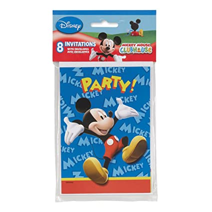 Amazon Com Mickey Mouse Clubhouse Invitations 8 Count Toys Games