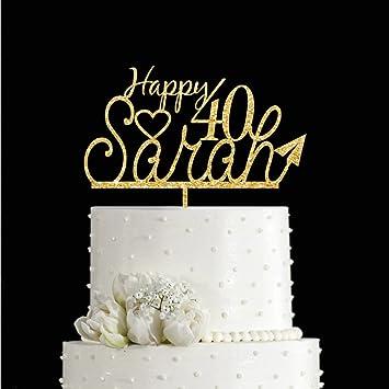 KISKISTONITE 40th Paper Plane Childhood Memory Happy Birthday Cake Toppers Name Custom Personalized Decoration