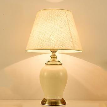 Baoduohui Keramik Tischlampe Kupfer American Keramik Schreibtisch