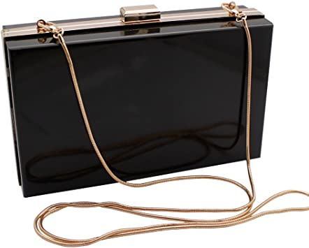 LETODE Acrylic Fashionable Transparent Evening Clutches Shoulder Bags Handbag for Women Ladies Gift Ideal