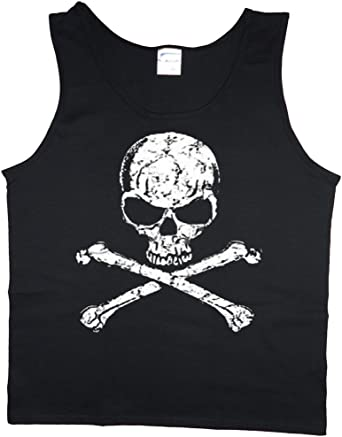 Ladies tank top Jolly Roger Pirate skull decal women/'s tee shirt sleeveless tee