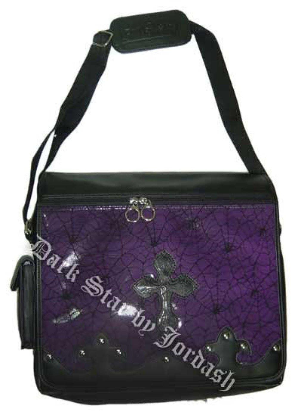 Amazon.com: Star morado oscuro gótico PVC ataúd cruz bolsa ...