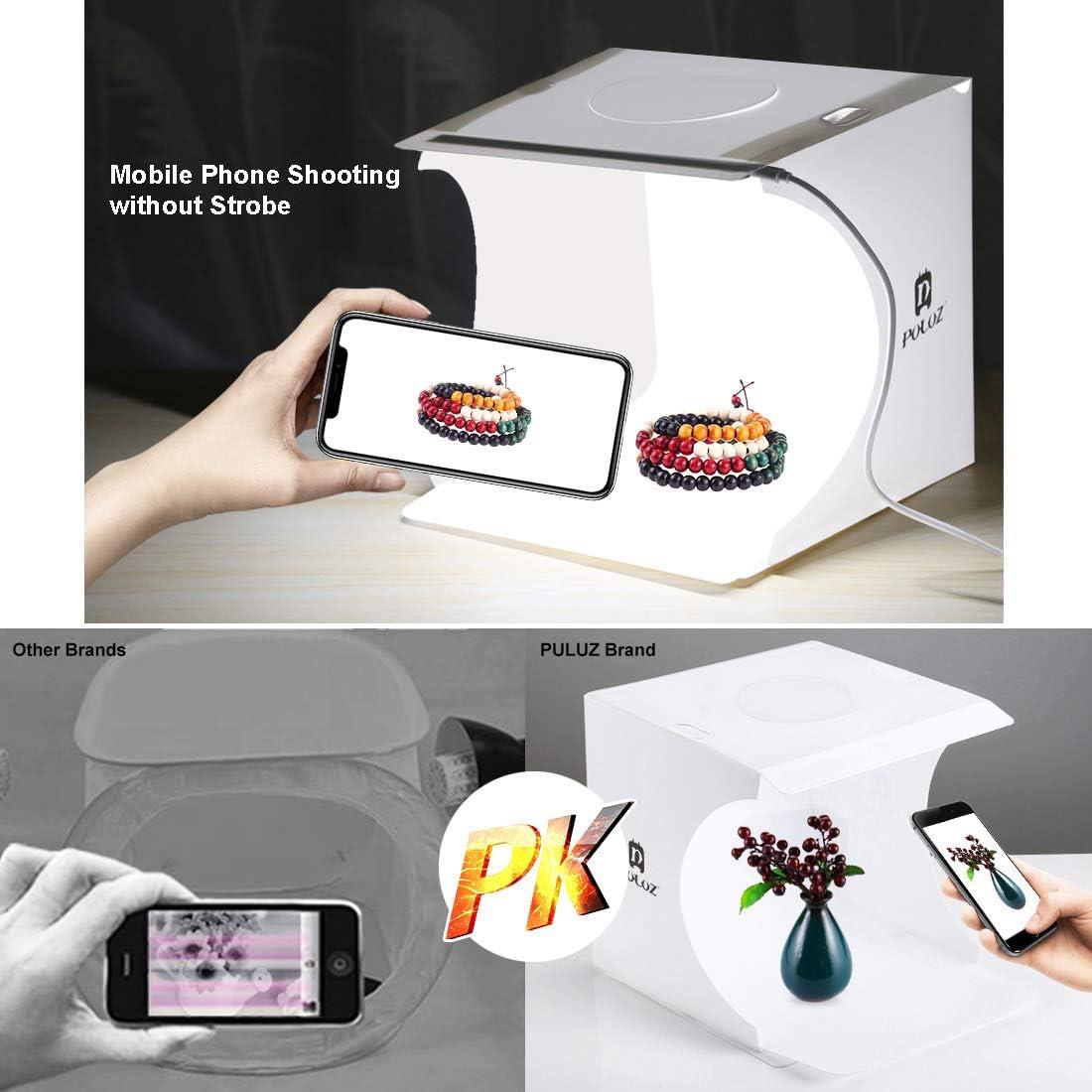 QKa Folding Studio Shooting Tent Portable 550LM Light Photo Lighting Box Kit with 6 Colors Backdrops Photo Background Shooting Tents