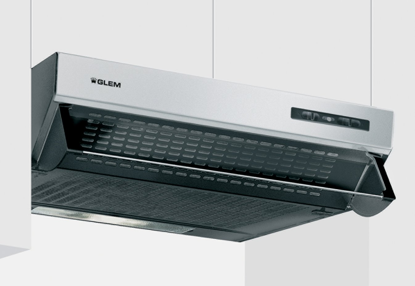 Glem GHL60IX Semi built-in (pull out) Stainless steel 207m³/h E ...