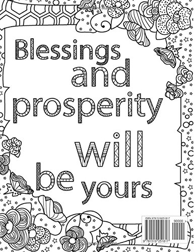 Adult Colouring Book Christian Inspirational Bible Blessings Quotes For Christians And People Of Faith