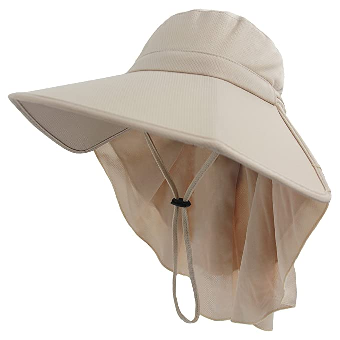 1707f437 LETHMIK Womens Foldable Sun Hat,Outdoor UV Protection Summer Fishing Safari  Hat with Neck Cover