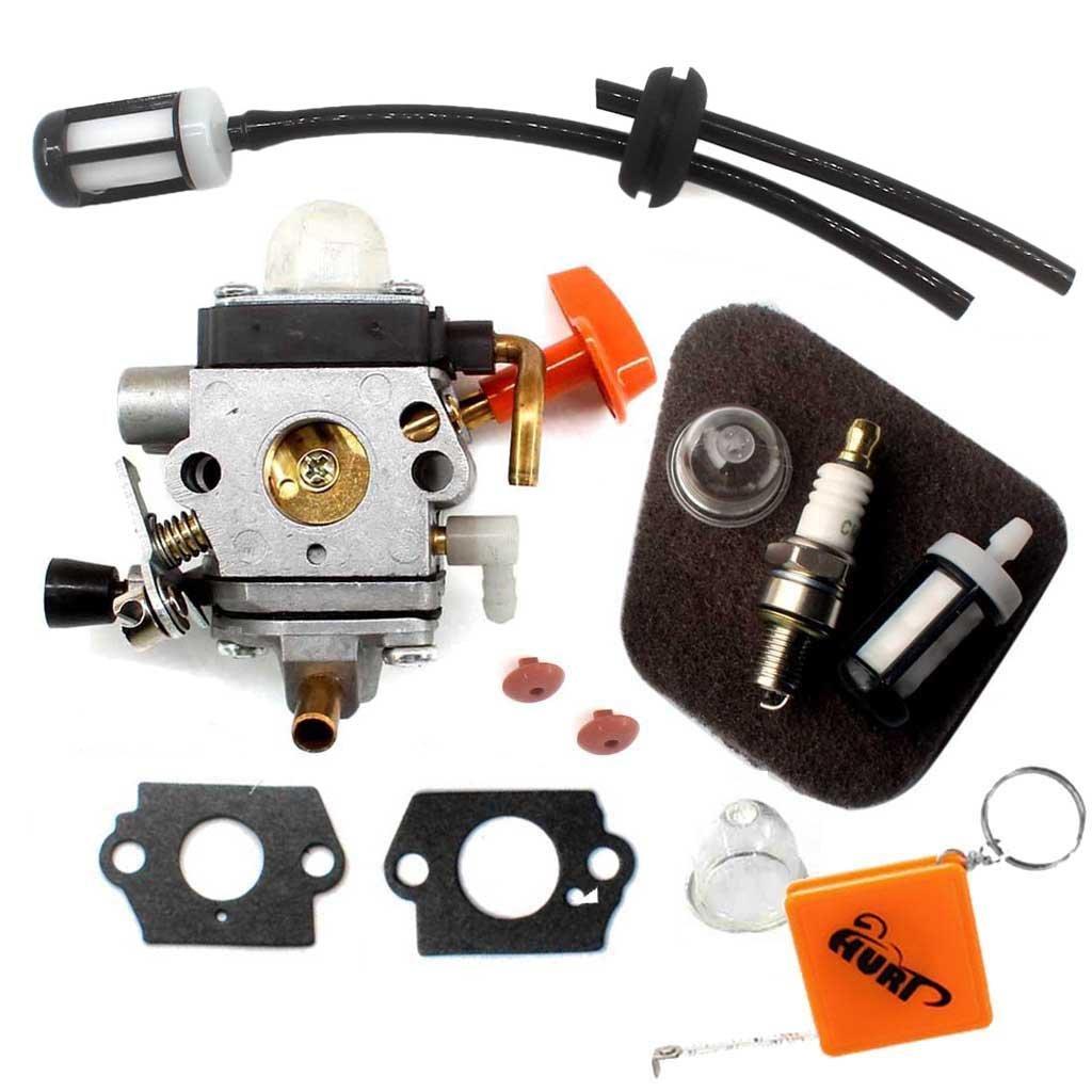 HURI Carburateur avec Filtre à Air pour Zama Stihl FS87 FS90 FS100 FS110 FS130 HL100 HT100 KM90 KM100 SP90 Rep ZAMA C1Q-S174 C1Q-S176 / 4180 120 0610