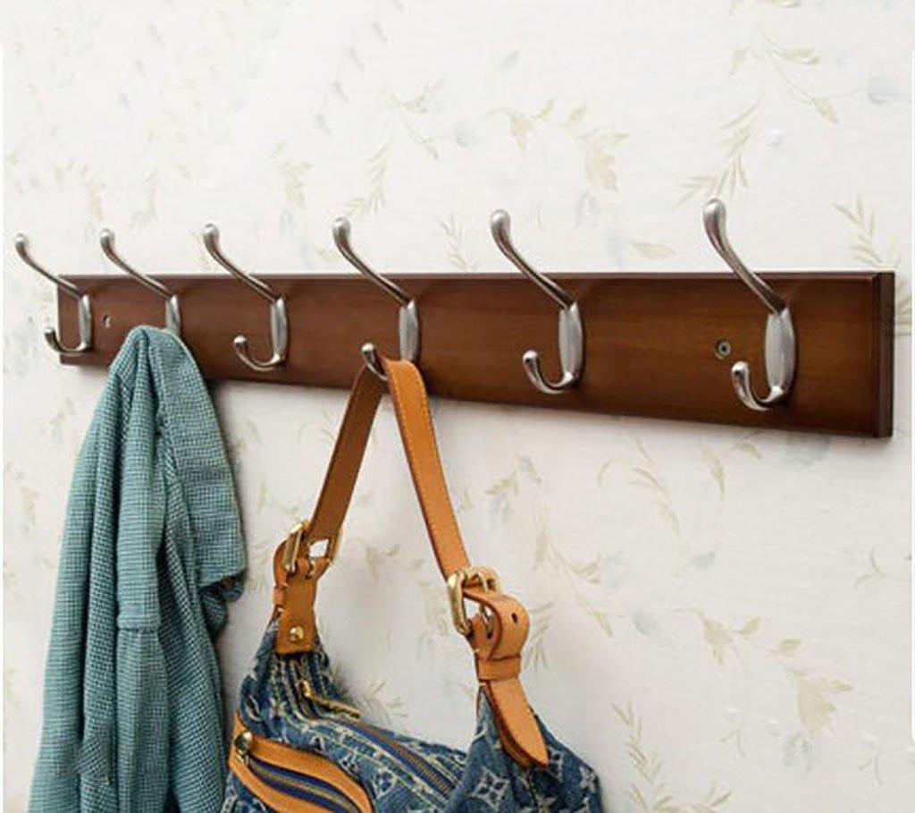 コートラック, 衣類フック壁掛けクリエイティブ衣類フックコートラックウォールハンガーベッドルームフック壁コートフック (Color : 6hooks-74cm) B07SGNLCSJ 6hooks--74cm