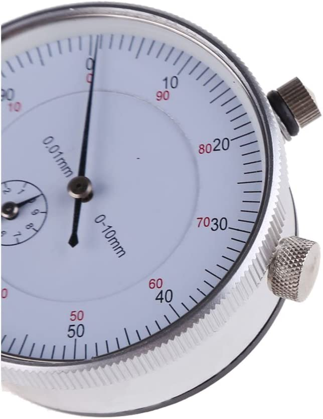 Gaoominy Dial Indicator Gauge 0-10mm Meter Precise 0.01 Resolution Concentricity Test