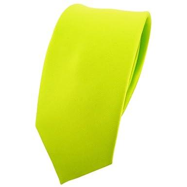 TigerTie - corbata estrecha - verde neón verde verde fluorescente ...