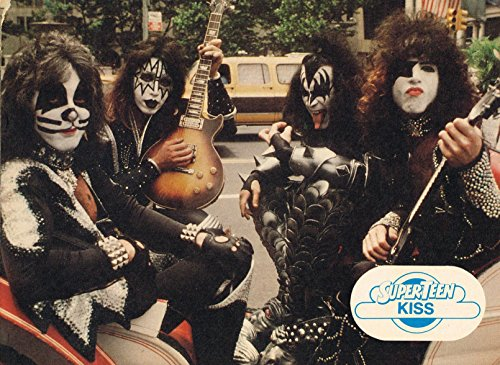 """Kiss - Gene Simmons - Ace Frehley - Eric Singer - Peter Criss - 11"""" x 8"""" Teen Magazine Poster Pinup Poster Pinup - year 1977"""