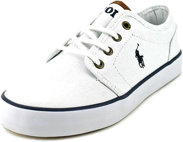 8e3392b45b Amazon.com: Polo Ralph Lauren Jeethan Low Youth US 6 White Sneakers ...